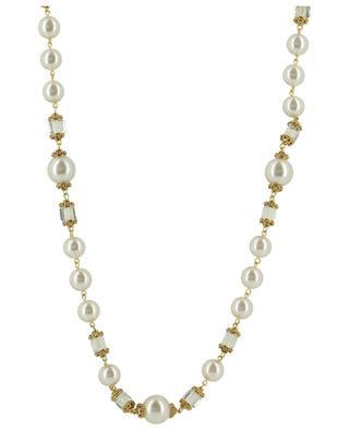 Sautoir avec perles et cristaux POGGI