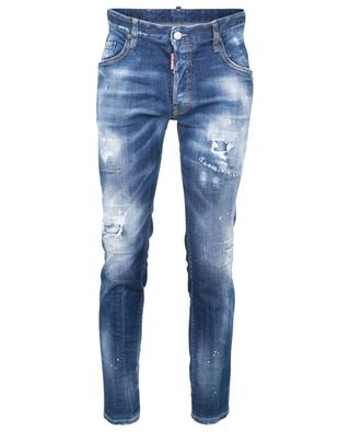 Slim-Fit-Jeans mit niedriger Taille White Spot Underpatch Skater DSQUARED2