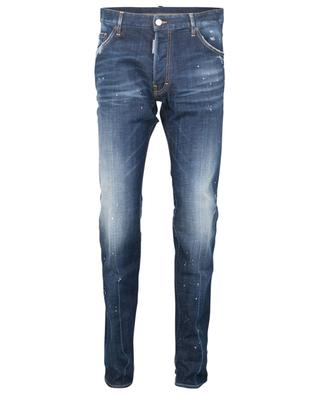 Slim-Fit-Jeans mit niedriger Taille White Spots Broken Cool Guy DSQUARED2