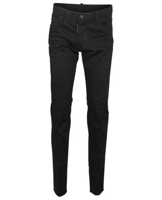 Schwarze Slim-Fit-Jeans mit niedriger Taille Cool Guy DSQUARED2
