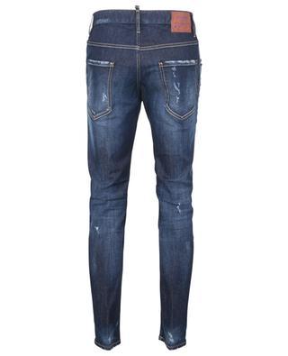 Zerrissene Slim-Fit-Jeans mit niedriger Hose Underpatch Skater Jean DSQUARED2