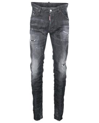 Zerrissene Slim-Fit-Jeans mit niedriger Taille Broken Cool Guy DSQUARED2