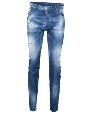 Slim-Fit-Jeans mit niedriger Taille im Used Look Orange Spots Broken Cool Guy Jean DSQUARED2