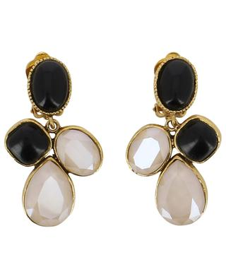 Clip earrings with stones and crystals POGGI