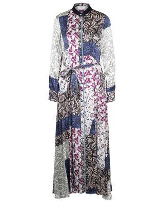 Romantic printed long silk shirt dress FORTE FORTE