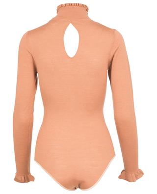 Fine knit bodysuit with stand-up collar FORTE FORTE