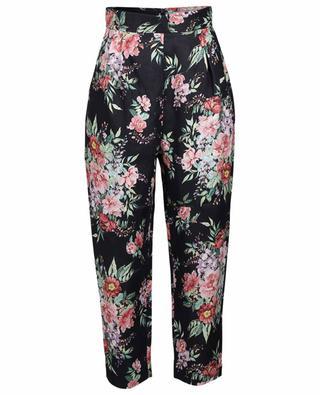 Pantalon en lin fleuri Bellitude ZIMMERMANN