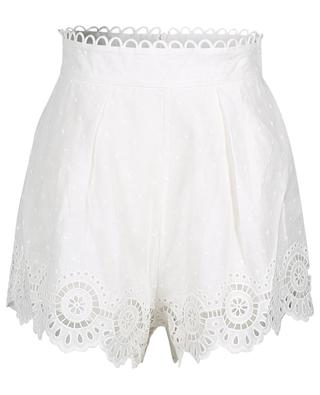 Bellitude scalloped linen shorts ZIMMERMANN