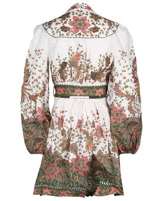 Robe courte imprimée en lin Empire Baki ZIMMERMANN
