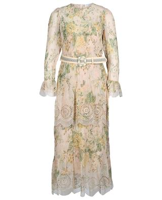 Amelie cotton and silk floral dress ZIMMERMANN