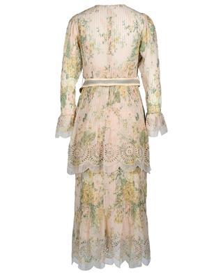 Geblümtes Kleid aus Baumwolle und Seide Amelie ZIMMERMANN