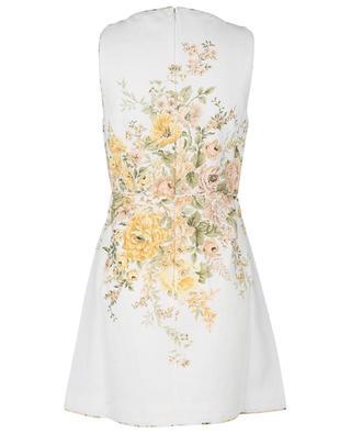 Minirobe sans manches en lin Amelie Cut Out Ivory Garden Floral ZIMMERMANN
