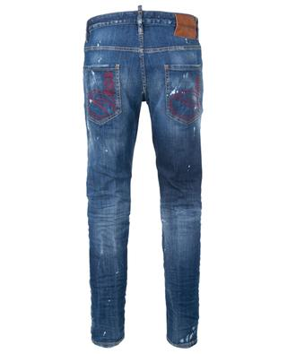 Slim-Fit-Jeans im Used-Look mit Dean und Dan-Stickerei Skater DSQUARED2