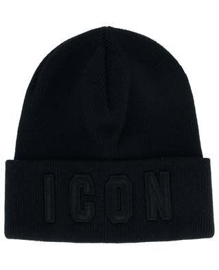 Bonnet en laine avec inscription Icon DSQUARED2