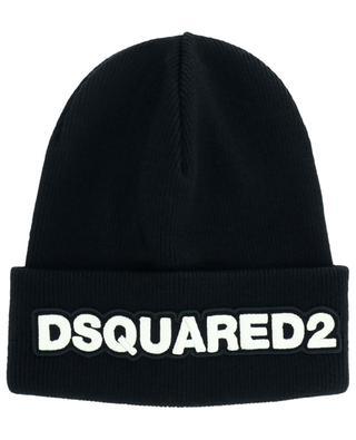 Bonnet tricot en laine avec logo brodé DSQUARED2