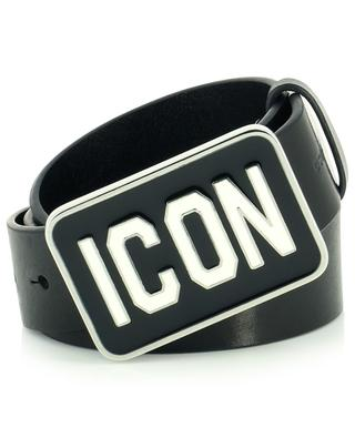 Smooth leather belt with icon plaque DSQUARED2