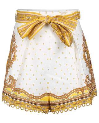 Bedruckte Shorts aus Leinen Bells Paisley ZIMMERMANN
