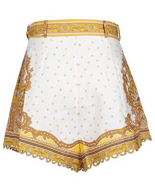 Bells Paisley printed linen shorts ZIMMERMANN