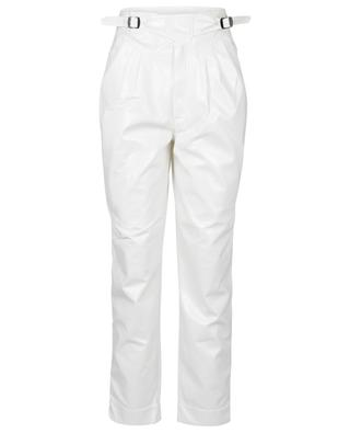 Pantalon carotte en cuir vegan Wilde Snow White ROTATE BIRGER CHRISTENSEN
