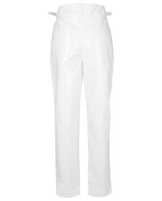 Wilde Snow White vegan leather carrot trousers ROTATE BIRGER CHRISTENSEN