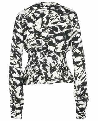Tracy Black Comb printed peplum top ROTATE BIRGER CHRISTENSEN