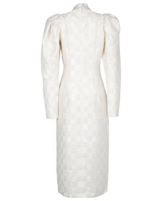 Robe midi ajustée motifs damier Theresa ROTATE BIRGER CHRISTENSEN