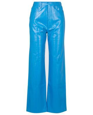 Hose mit weitem Bein und hoher Taille aus veganem Leder Rotie ROTATE BIRGER CHRISTENSEN
