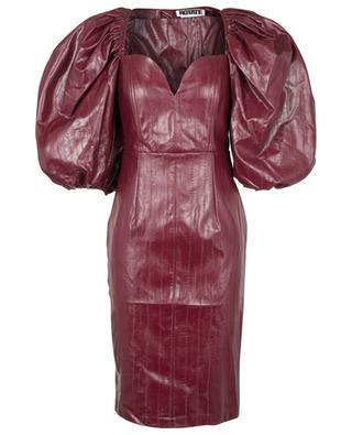 Irina Zinfandel short fitted vegan leather dress ROTATE BIRGER CHRISTENSEN