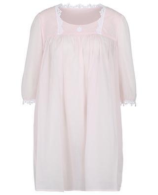 Ariella cotton veil and lace U-neck baby doll CELESTINE
