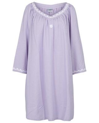 Chemise de nuit en flanelle à carreaux vichy bicolores Mouna CELESTINE