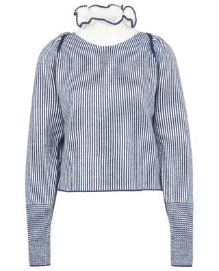 Striped jumper with leg-of-mutton legs and ruffled high-neck SEE BY CHLOE