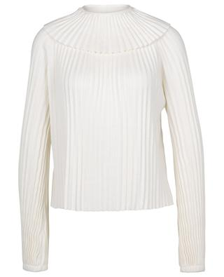 Pleated cotton and silk round neck jumper SEE BY CHLOE