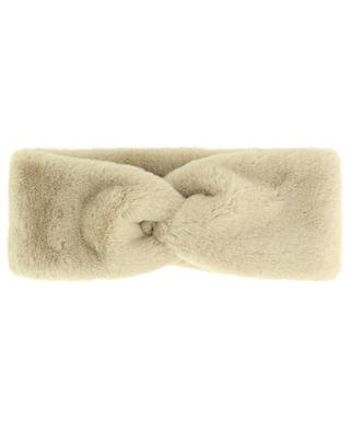 Faux fur head band with twist LEA CLEMENT