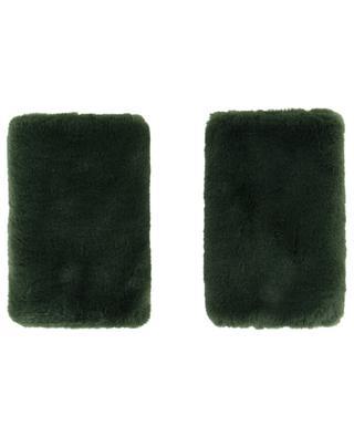 Mitten style faux fur cuffs LEA CLEMENT