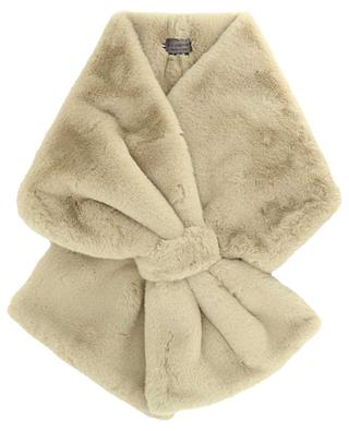 Scarf in faux fur with loop LEA CLEMENT