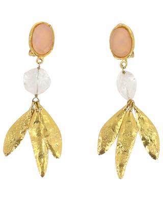 Boucles d'oreilles clips Crystal Vibes - Quartz rose SYLVIA TOLEDANO