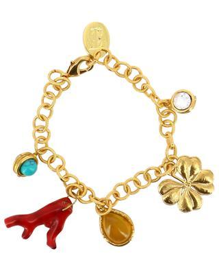 Armband aus vergoldetem Messing Lucky Charms SYLVIA TOLEDANO