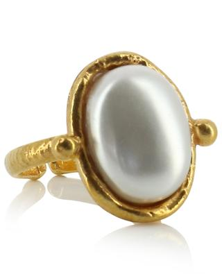 Petite Ovale ring - Pearl SYLVIA TOLEDANO