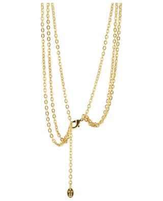 Collier triple en laiton doré Medaillon 3 - Perle SYLVIA TOLEDANO