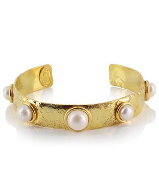 Bracelet en laiton doré Happy Moon - Perle SYLVIA TOLEDANO