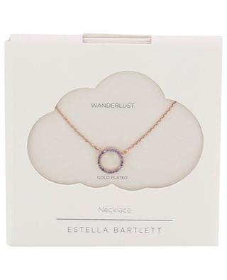 Rosévergoldete Halskette mit Kristallen Lavender Circle ESTELLA BARTLETT