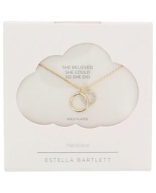 Vergoldete Halskette mit doppeltem Anhänger Double Circle ESTELLA BARTLETT
