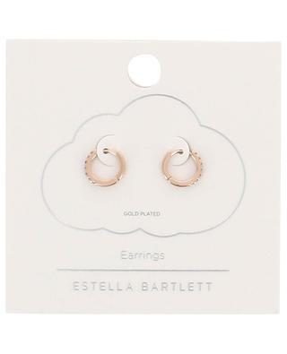 Rosévergoldete Creolen mit Kristallen ESTELLA BARTLETT