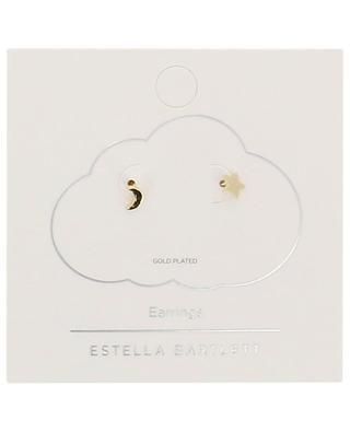 Moon and star gold plated stud earrings ESTELLA BARTLETT