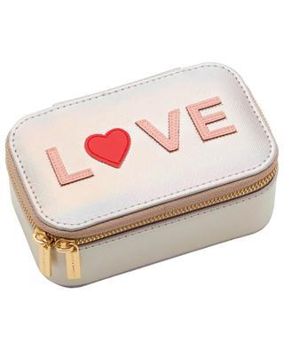 Vegan love applique jewellery box ESTELLA BARTLETT