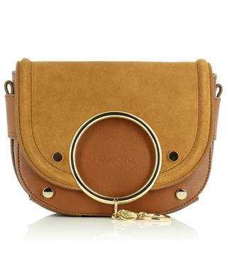 Mara smooth leather and suede crossbody bag SEE BY CHLOE