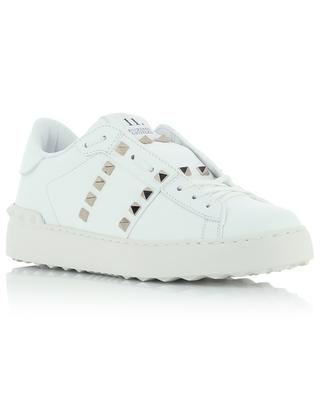 Baskets blanches en cuir clouté 11. Rockstud Untitled VALENTINO