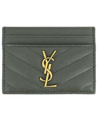 Monogram grained leather card case SAINT LAURENT PARIS