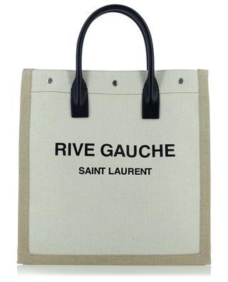 RIVE GAUCHE N/S Noe cotton and linen tote bag SAINT LAURENT PARIS