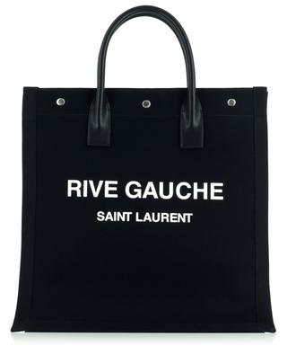 Noé Rive Gauche N/S printed canvas and leather tote bag SAINT LAURENT PARIS